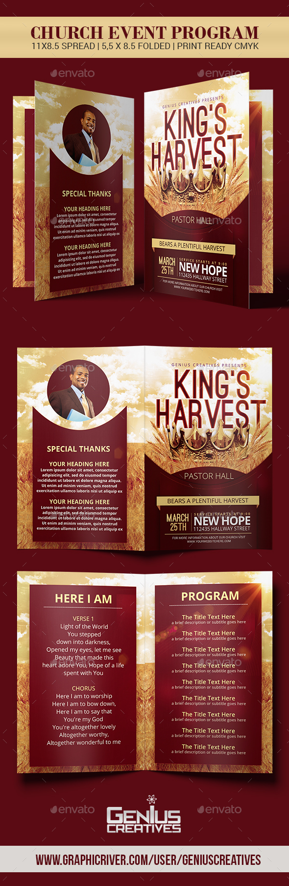 GraphicRiver King's Harvest Church Program Template 20668461