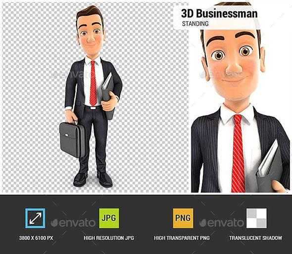 GraphicRiver 3D Businessman 20668543