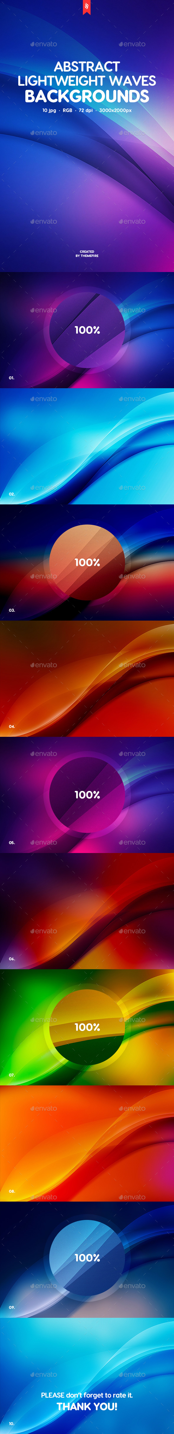 Lightweight Waves Backgrounds - Abstract Backgrounds