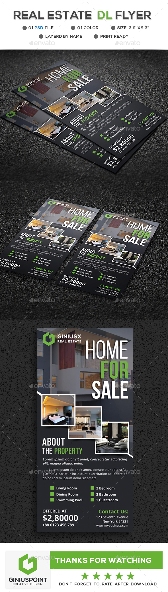 GraphicRiver Real Estate DL Flyer 20668580