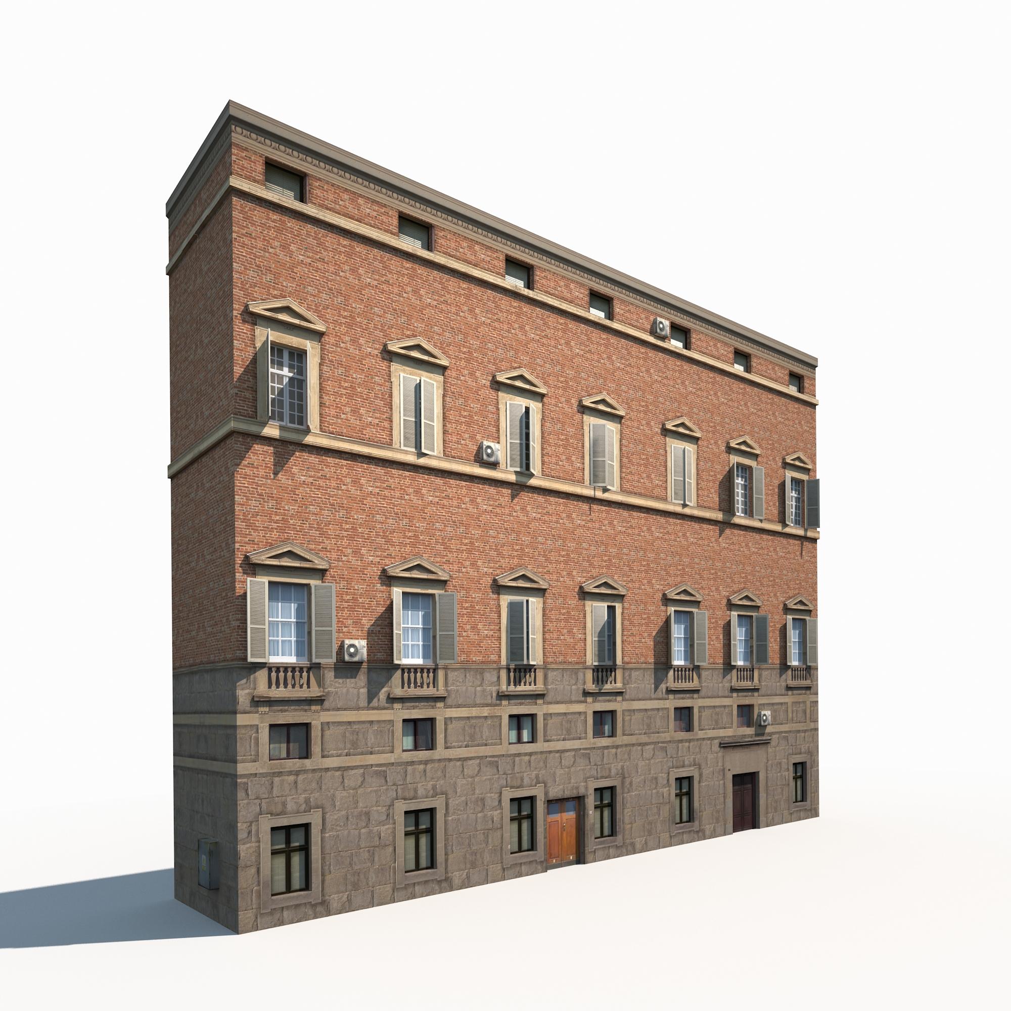 Building Facade 179 Low Poly