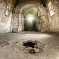 God beams in the ruins of abandoned church - PhotoDune Item for Sale