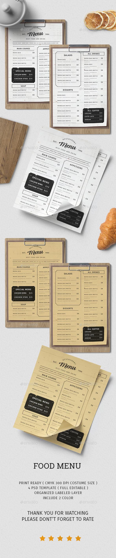 Food Menu vol.4 - Restaurant Flyers