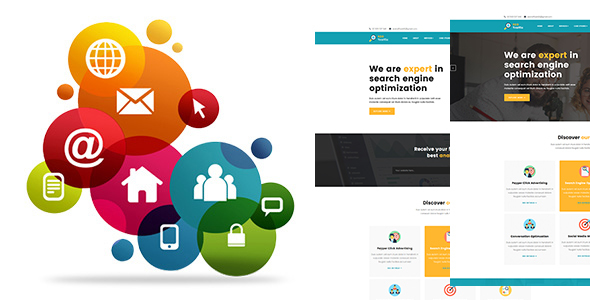 ThemeForest SEO TRAFFIC Internet Marketing and SEO HTMl5 Template 20425490