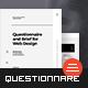 Questionnaire Web Design - GraphicRiver Item for Sale