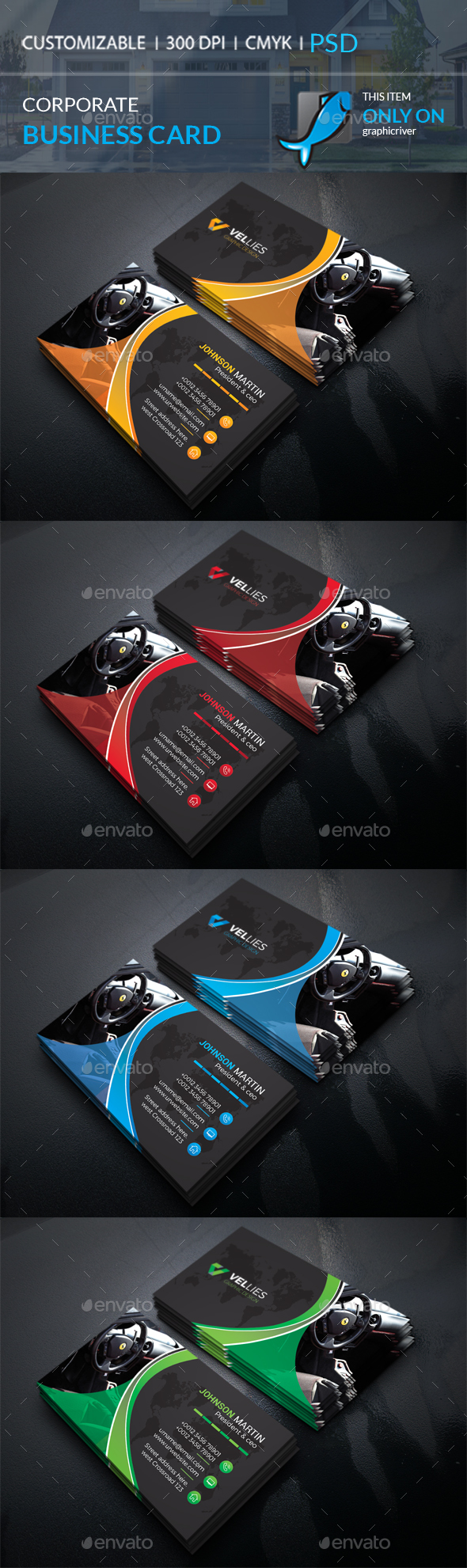 GraphicRiver Corporate Business Card 20668806