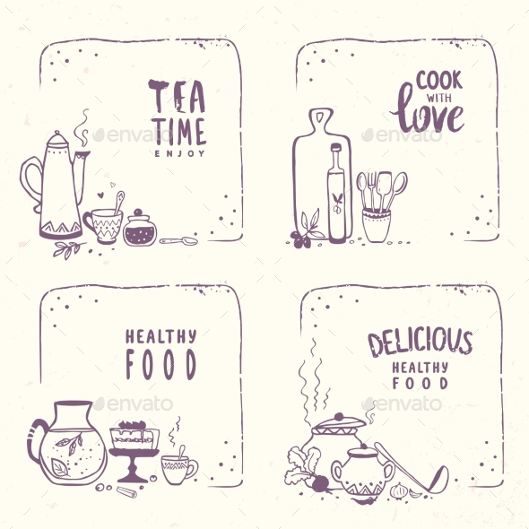 Doodle Food - Miscellaneous Vectors