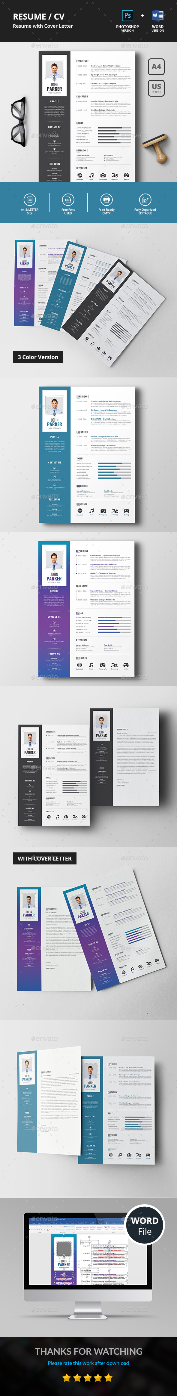 GraphicRiver Resume CV 20668945