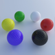 Colored Golf Balls - 3DOcean Item for Sale