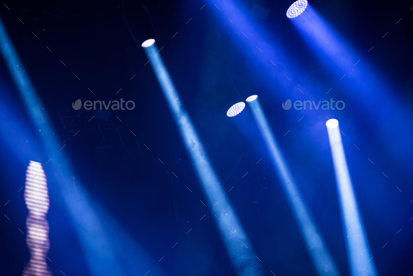 Bright stage lights during a live concert - Stock Photo - Images