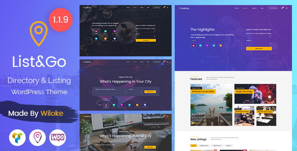ListGo - Directory WordPress Theme - Directory & Listings Corporate