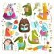Animal Kids Studying Reading Books - GraphicRiver Item for Sale