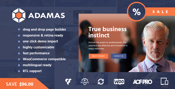 Adamas - Advanced Business WordPress Theme