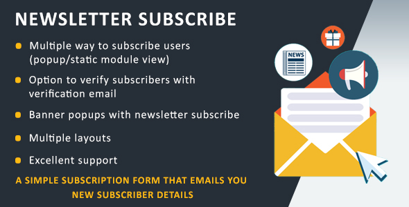CodeCanyon Newsletter Subscribe 20669342