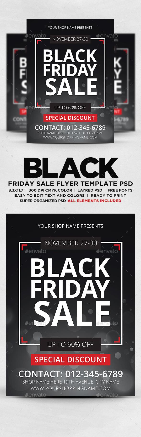 GraphicRiver Black Friday Sale Flyer 20669453