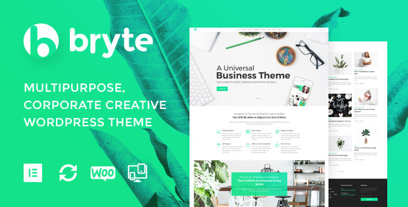 Bryte — Multipurpose Creative & Business WordPress Theme