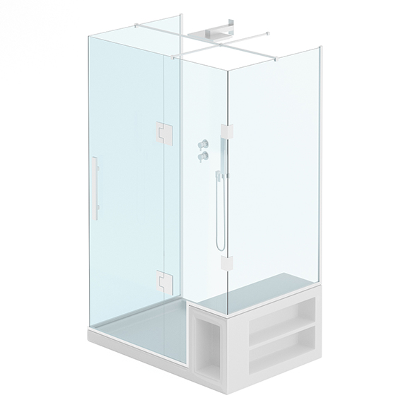 Rectangular Shower - 3DOcean Item for Sale