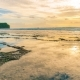 Clouds Reflecting in the Water on the Beach Balangan the Island of Bali in Indonesia