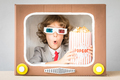 Child playing with cartoon TV - PhotoDune Item for Sale