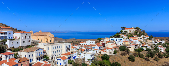 Greece, Kea island. Ioulis village - Stock Photo - Images