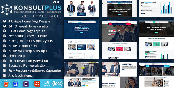 Business Consulting & Corporate Finance HTML5 Template - KonsultPlus