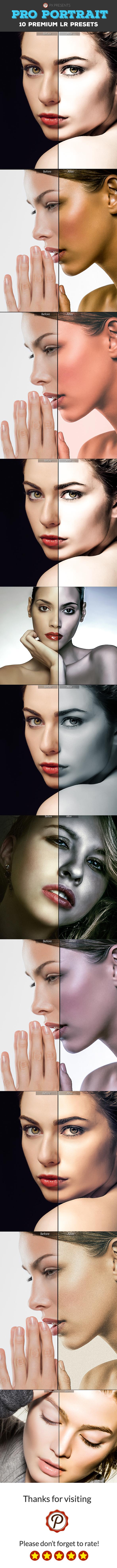10 Pro Portrait Presets - Portrait Lightroom Presets