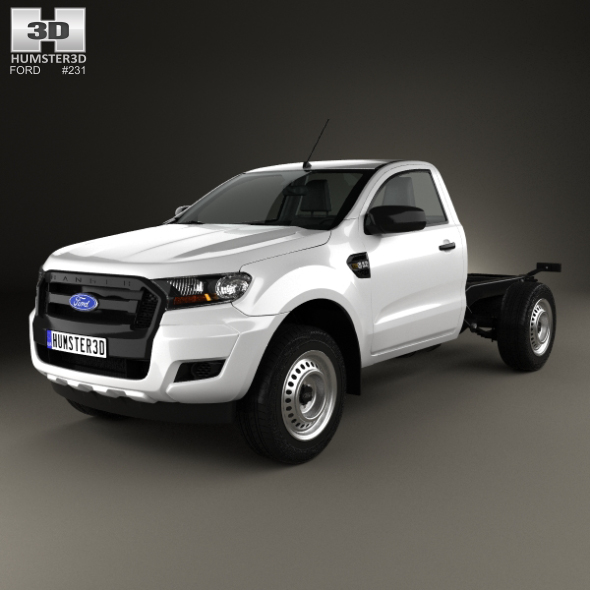 3DOcean Ford Ranger Single Cab Chassis XL 2015 20669821