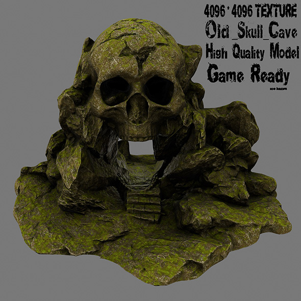 skull cave 6 - 3DOcean Item for Sale
