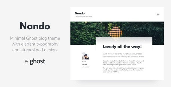 ThemeForest Nando Minimal Ghost Blogging Theme 20540611