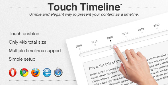 Touch Timeline - CodeCanyon Item for Sale