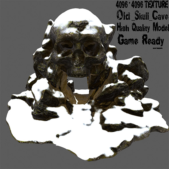 snow skull cave - 3DOcean Item for Sale