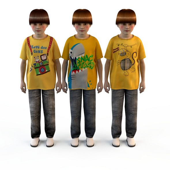 children's clothes for boys ( t-shirts , jeans ) 2 - 3DOcean Item for Sale