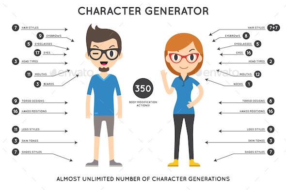 Character Generator 1.0 - Characters Illustrations