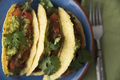 Spicy Lentil Tacos From Above