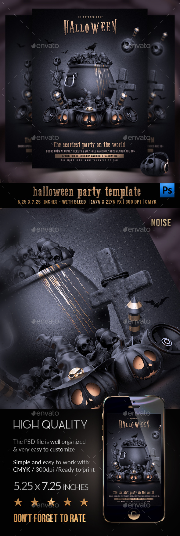 GraphicRiver Halloween Party Flyer 20650483