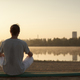 Shot of healthy young man taking a break after morning workout. - PhotoDune Item for Sale