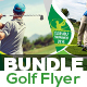 Golf Tournament Flyer Bundle Template
