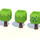 Cartoon Voxel Trees Pack - 3DOcean Item for Sale