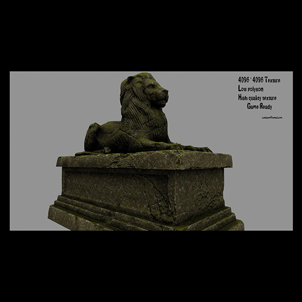 Lion Statue 12 - 3DOcean Item for Sale