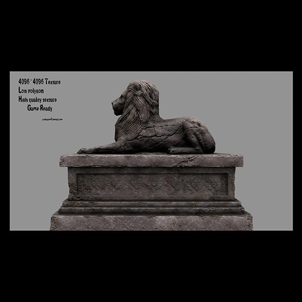 Lion Statue 13 - 3DOcean Item for Sale