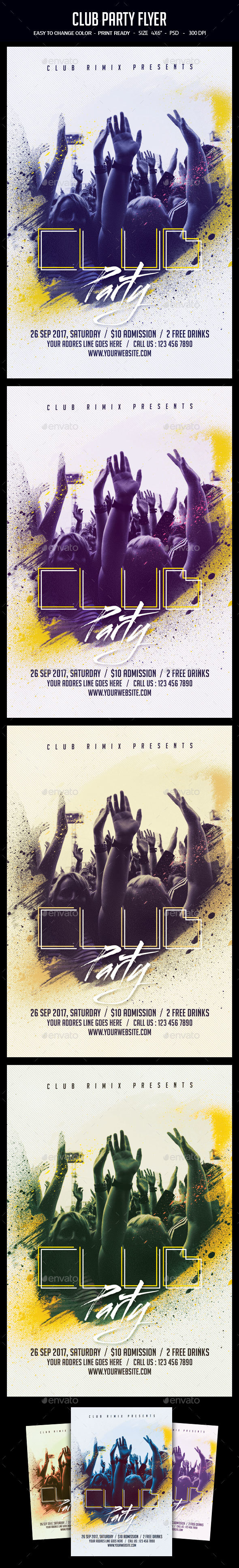 GraphicRiver Club Party Flyer 20671010