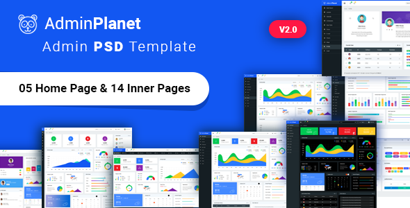 Admin Planet - Dashboard Admin Psd Template