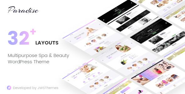 ThemeForest Paradise Multipurpose Spa & Beauty WordPress Theme 20431916