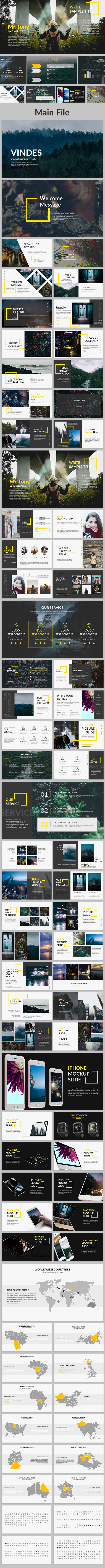 Vindes - Creative Keynote Template - Creative Keynote Templates