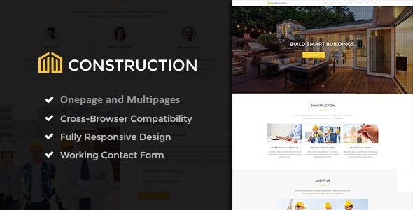 Construction - Ultimate Construction Joomla! One & Multi pageTemplate - Corporate Joomla