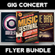Gig Concert Flyer Bundle