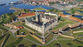 Aerial view of Kronborg castle, Denmark