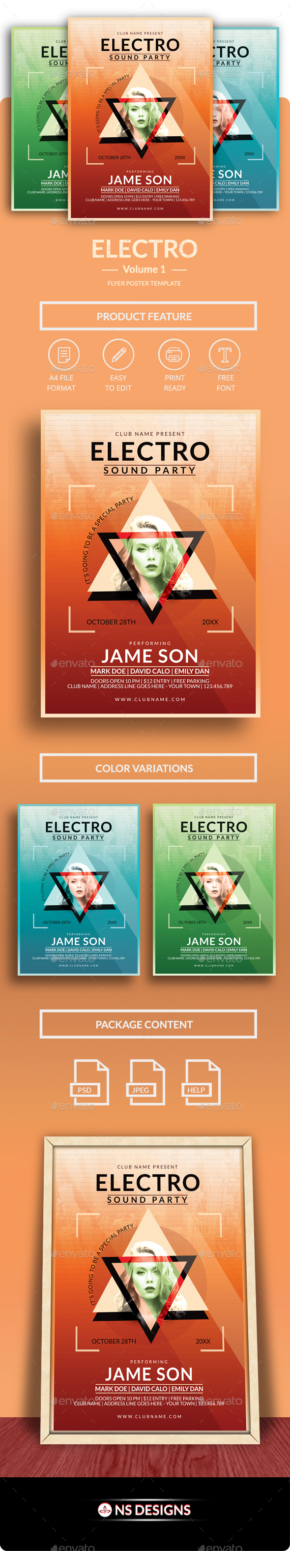 GraphicRiver Electro Flyer Poster Vol.1 20671087