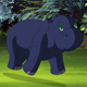 Little Blue Hippo Runs Front View - VideoHive Item for Sale