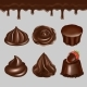 Vector Realistic Chocolate Dessert Icon Set